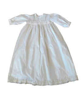 VESTITINO CERIMONIA SHANTUNG AVORIO / IVORY SHANTUNG CEREMONY BABY DRESS