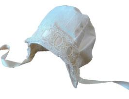 CUFFIA SHANTUNG BIANCO / WHITE SHANTUNG BONNET