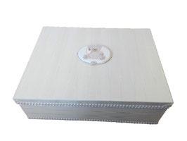 SCATOLA MOIREE AVORIO / IVORY MOIREE BOX
