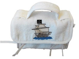 CESTINO ASILO NAVE PIRATA / PIRATE VESSEL  KINDERGARTEN BAG