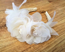 cerchietto per capelli con fiori di organza - hair band with organza flowers