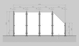 Glaszaun - Komplettset HD-G3SR