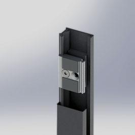 VITRAGO Glaszäune - Klemmschiene 181 cm (LINKS/RECHTS)