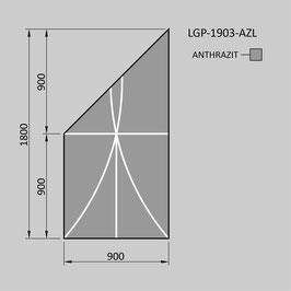 Zaunelement - Glas LGP-1903-AZL (LINKS)