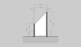 Glaszaun - Komplettset SD-SL