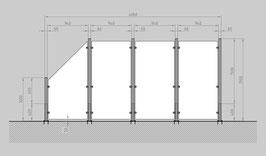 Glaszaun - Komplettset HD-G3SL