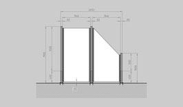 Glaszaun - Komplettset SD-G1SR