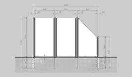 Glaszaun - Komplettset SB-G2SR