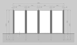 Glaszaun - Komplettset SB-G4