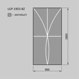 Zaunelement - Glas LGP-1903-BZ