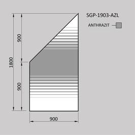 Zaunelement - Glas SGP-1903-AZL (LINKS)
