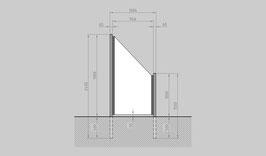 Glaszaun - Komplettset SB-SR