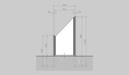 Glaszaun - Komplettset SB-SL