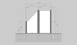 Glaszaun - Komplettset SB-G1SL