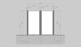 Glaszaun - Komplettset SB-G2