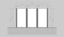 Glaszaun - Komplettset SB-G3
