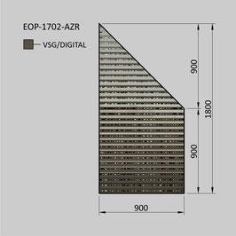 Zaunelement - Glas EOP-1702-AZR (RECHTS)