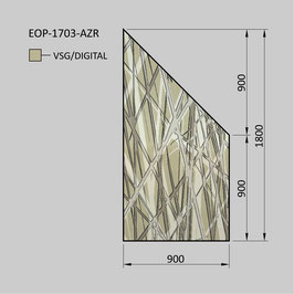 Zaunelement - Glas EOP-1703-AZR (RECHTS)
