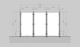 Glaszaun - Komplettset HD-G3