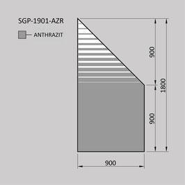 Zaunelement - Glas SGP-1901-AZR (RECHTS)