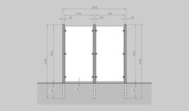 Glaszaun - Komplettset HB-G2