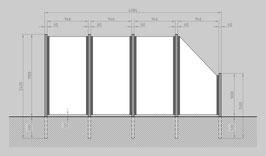 Glaszaun - Komplettset SB-G3SR