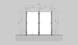 Glaszaun - Komplettset HD-G2