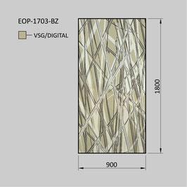 Zaunelement - Glas EOP-1703-BZ