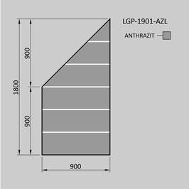 Zaunelement - Glas LGP-1901-AZL (LINKS)