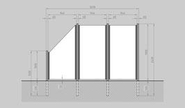 Glaszaun - Komplettset SB-G2SL
