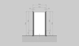 Glaszaun - Komplettset SD-G1