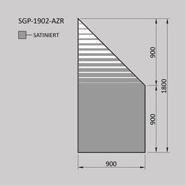 Zaunelement - Glas SGP-1902-AZR (RECHTS)