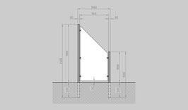 Glaszaun - Komplettset HB-SR
