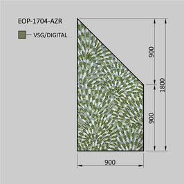 Zaunelement - Glas EOP-1704-AZR (RECHTS)