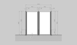 Glaszaun - Komplettset SD-G2