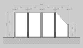 Glaszaun - Komplettset SD-G3SR