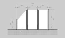 Glaszaun - Komplettset SD-G2SL