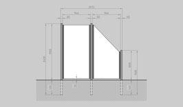 Glaszaun - Komplettset SB-G1SR