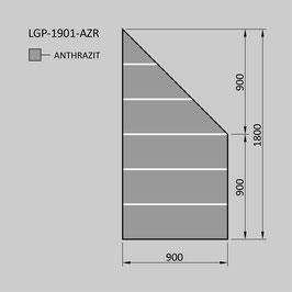 Zaunelement - Glas LGP-1901-AZR (RECHTS)