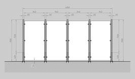 Glaszaun - Komplettset HD-G4