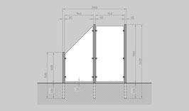 Glaszaun - Komplettset HB-G1SL