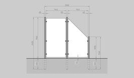 Glaszaun - Komplettset HB-G1SR