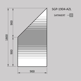 Zaunelement - Glas SGP-1904-AZL (LINKS)