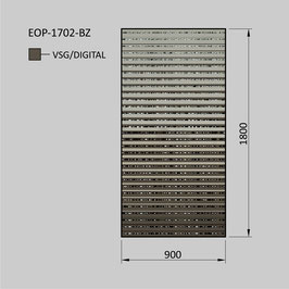 Zaunelement - Glas EOP-1702-BZ