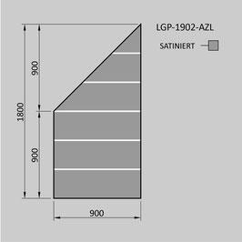 Zaunelement - Glas LGP-1902-AZL (LINKS)