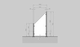 Glaszaun - Komplettset HD-SL