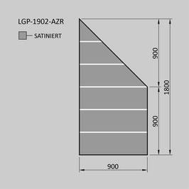 Zaunelement - Glas LGP-1902-AZR (RECHTS)