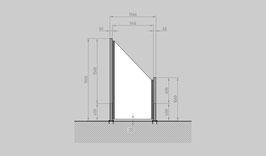 Glaszaun - Komplettset SD-SR