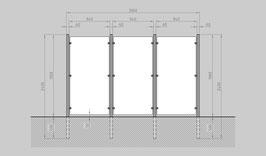 Glaszaun - Komplettset HB-G3