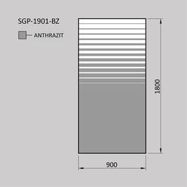Zaunelement - Glas SGP-1901-BZ